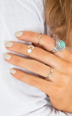 Aim For The Stars midi ring in silver