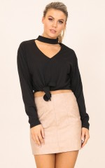 Stage Fright top in black