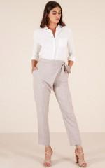 Standout pants in beige