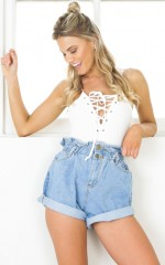 Stomping Ground denim shorts in light wash