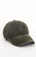 Stranger Danger Hat in khaki denim