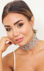 Strobelight Choker in Silver