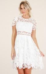 Sunday Love dress in white crochet