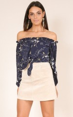Talk The Talk top in navy floral