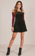 Thats What I Like pinafore dress in black