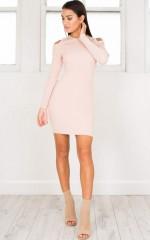 The Flipside Knit dress in mocha