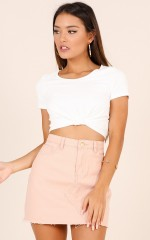 Til The End crop top in white