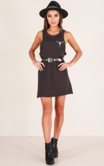 Time And Again dress in charcoal