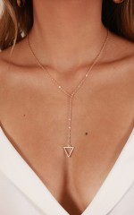 Something On Your Mind necklace in gold