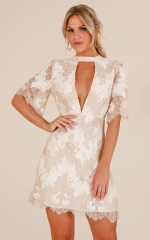 Take My Heart dress in white lace