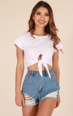 Valerie crop top in white