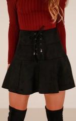 Like Crazy skirt in black suedette