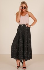 Poetic Dreams pants in black polkadot