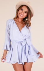 Sunday Breeze playsuit in blue stripe