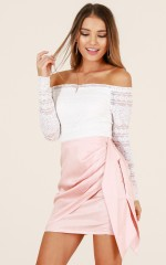 Stick With You skirt in pink