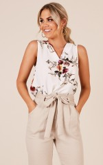 No Limit top in white floral
