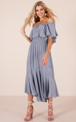 We Could Go Back maxi dress in blue