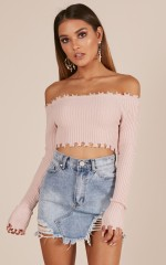 Never Change crop knit in mocha