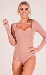 Switch It Up bodysuit in mocha