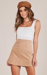 Broken Halos skirt in beige