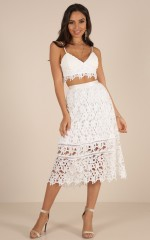 Lost Dreams two piece set in white crochet