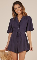 No Introduction playsuit in navy