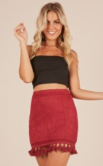 Dream life skirt in wine