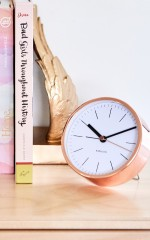 Out Of Time alarm clock in rose gold