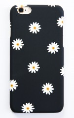 Daisy Field iPhone 6 Plus cover in black print