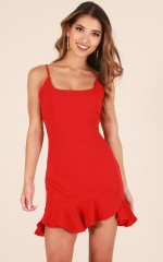 Way Out dress in red