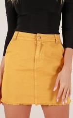 Keep A Secret skirt in mustard