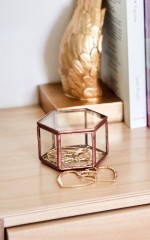 Geotag jewellery box in rose gold