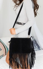 Fringe Finder Bag in Black