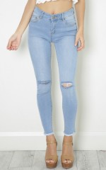 Jenny skinny jeans in light wash