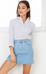 Cinnamon Girl denim skirt in mid wash