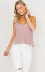 Gracie Top in Dusty Mauve