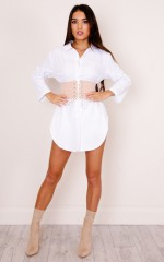 Want Her belted shirt in white