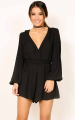 Better Off playsuit in black
