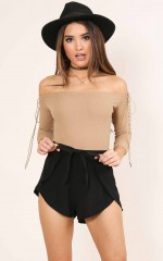 Tone It Down Shorts in black