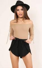 Tone It Down Shorts in black