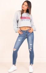 Maggie skinny jeans in mid wash denim
