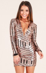 Party Girl dress in gold sequin