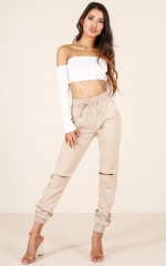 Casual Chic track pants in beige