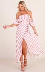 Mind Change dress in blush stripe