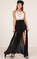 Endlessly Alluring maxi skirt in black