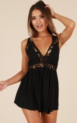 Dream Baby Romper in Black