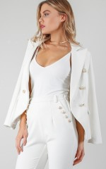 Great Minds Think Alike blazer in white