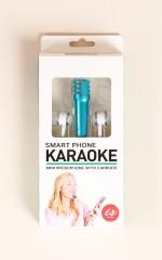 Smart Phone Karaoke in blue