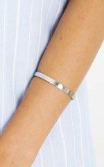All Hands On Deck cuff in silver