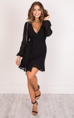 Across The Atlantic dress in black